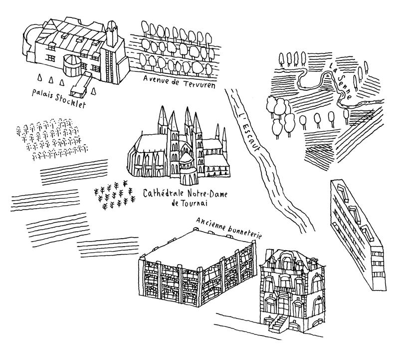 Loïc Gaume illustrateur auteur graphiste belgique bruxelles Réalisation des 120 cartes situant géographiquement les Centres culturels de Belgique francophone, pour l'Association des Centres Culturels. Design graphique du livre