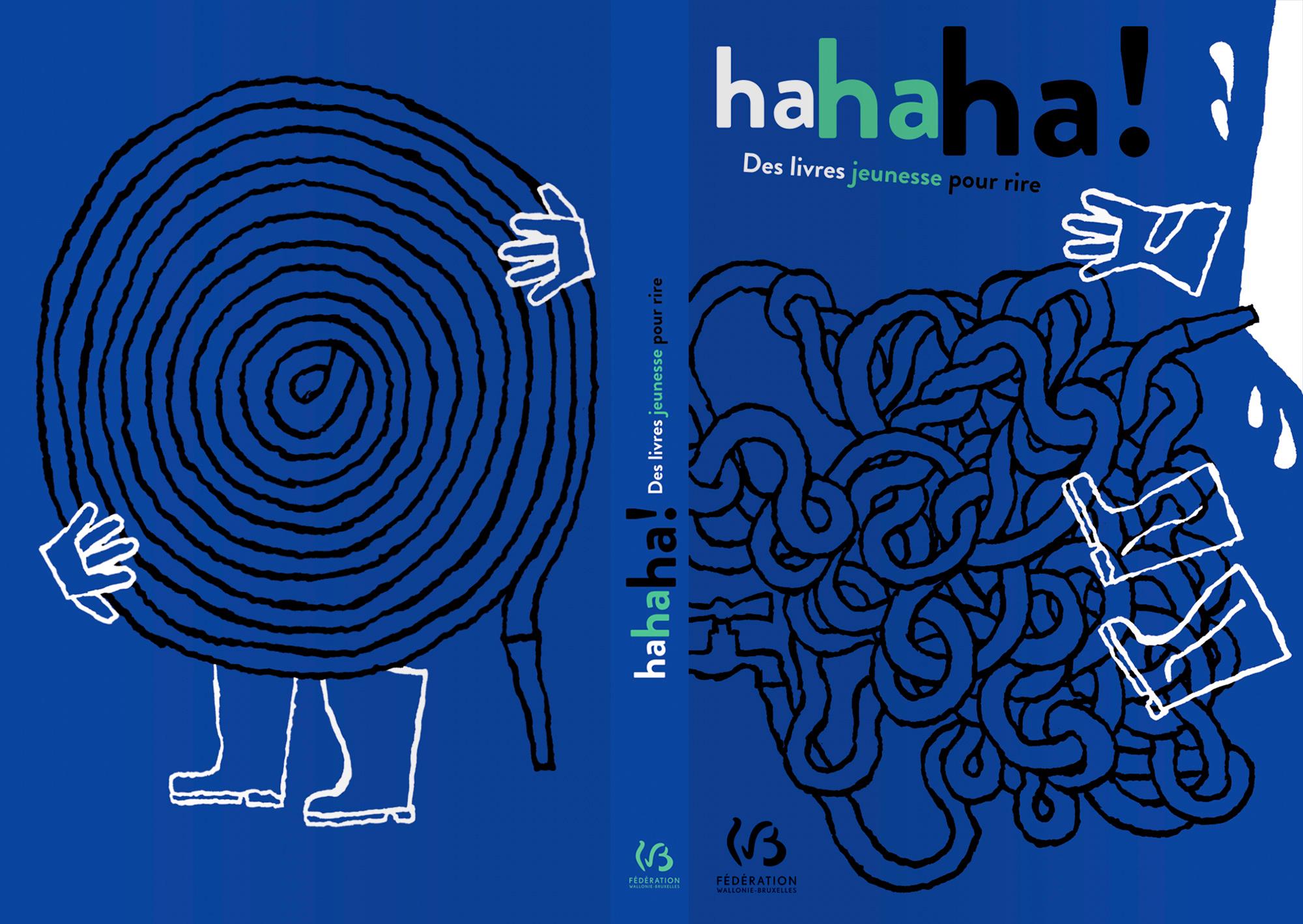 Loïc Gaume illustrateur auteur graphiste belgique bruxelles «L'humour dans la littérature jeunesse» Couverture et illustrations intérieures de la revue «Ha,ha,ha!» de la Commission de Sélection de livres jeunesse consacrée à l'humour.