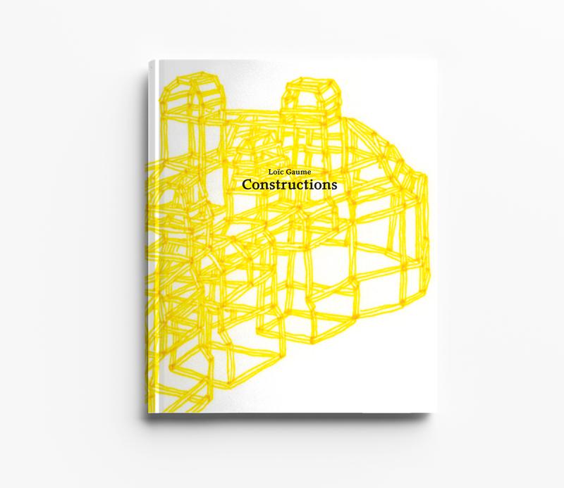 Loïc Gaume illustrateur auteur graphiste belgique bruxelles Constructions est une série de compositions dessinées, sans échelles, inspirées de cabanes, de cathédrales, d'échafaudages ou encore de granges réalisée à l'occasion du festival Picture.