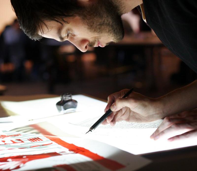 Loïc Gaume Résidence collective d'auteurs « Pierre Feuille Ciseaux », Saline royale d'Arc-et-Senans, organisée par Julien Misserey et l'Association ChiFouMi illustrateur auteur graphiste belgique bruxelles